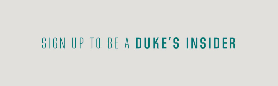 Sign up to be a Duke's Insider on tan background
