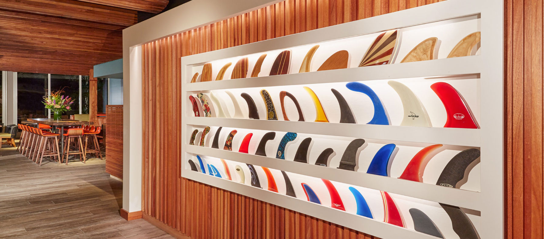 Wall decor with surf fins